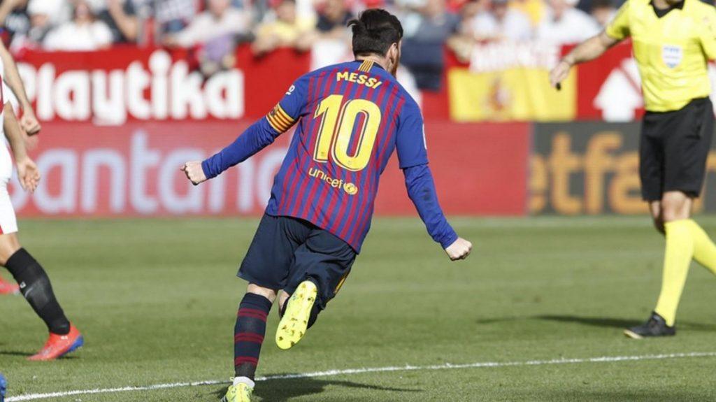 """Con un """"hat trick"""" de Messi, Barcelona venció a Sevilla"""