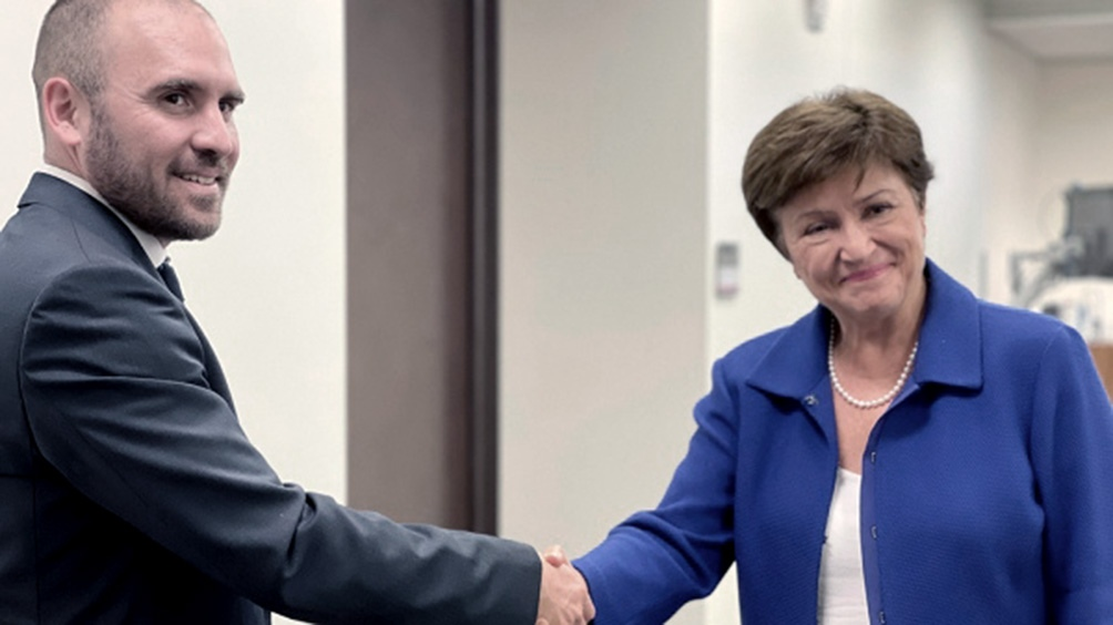 Guzmán se reunió con Kristalina Georgieva y con David Lipton